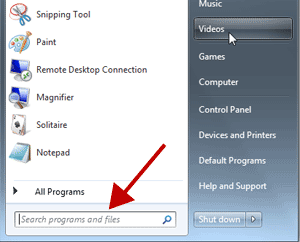 "Type ""speech recognition"" in Start Menu Search Box"