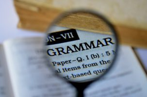 Image of the word Grammar in a dictionary