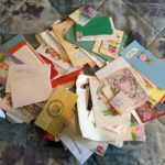 Scattered old letters and cards