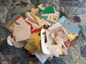 My old letters and greeting cards