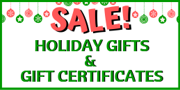 Sale on Holiday Gifts & Gift Certificates