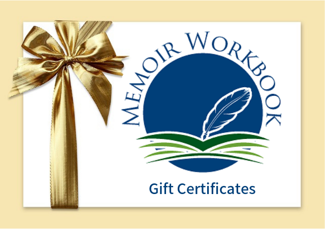 Gift Certificates for MemoirWorkbook.com