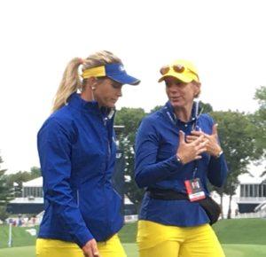 Suzann Petterson and Annika Sorenstam Solheim Cup 2017