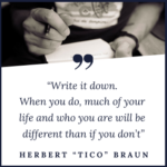 Write it Down. Tico Braun